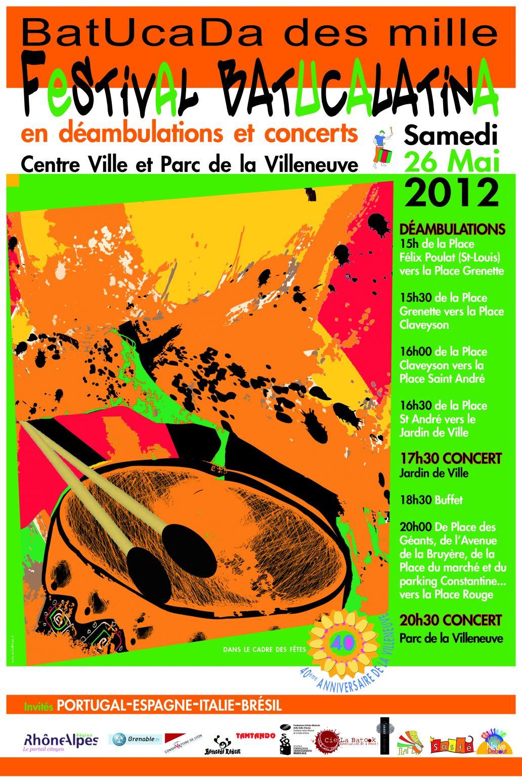 2012-05-26 Affiche BatucaLatina