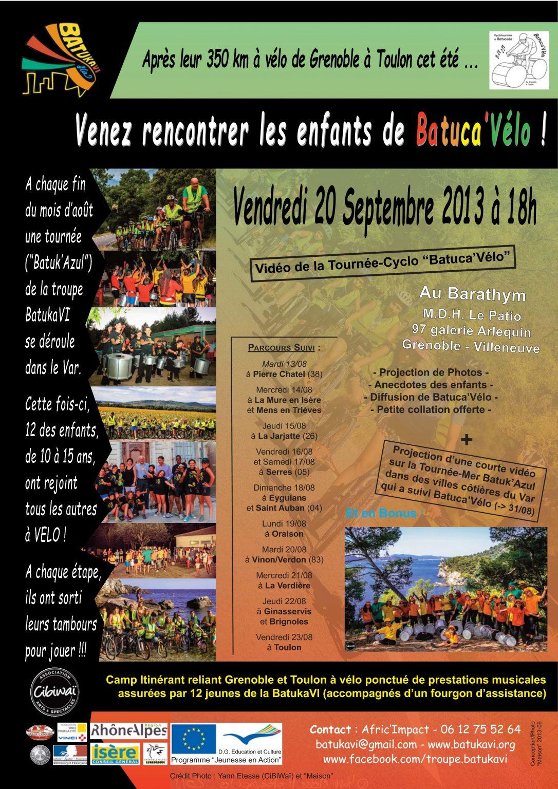2013-09-01 Soirée Tournée-Cyclo Batuca'Vélo