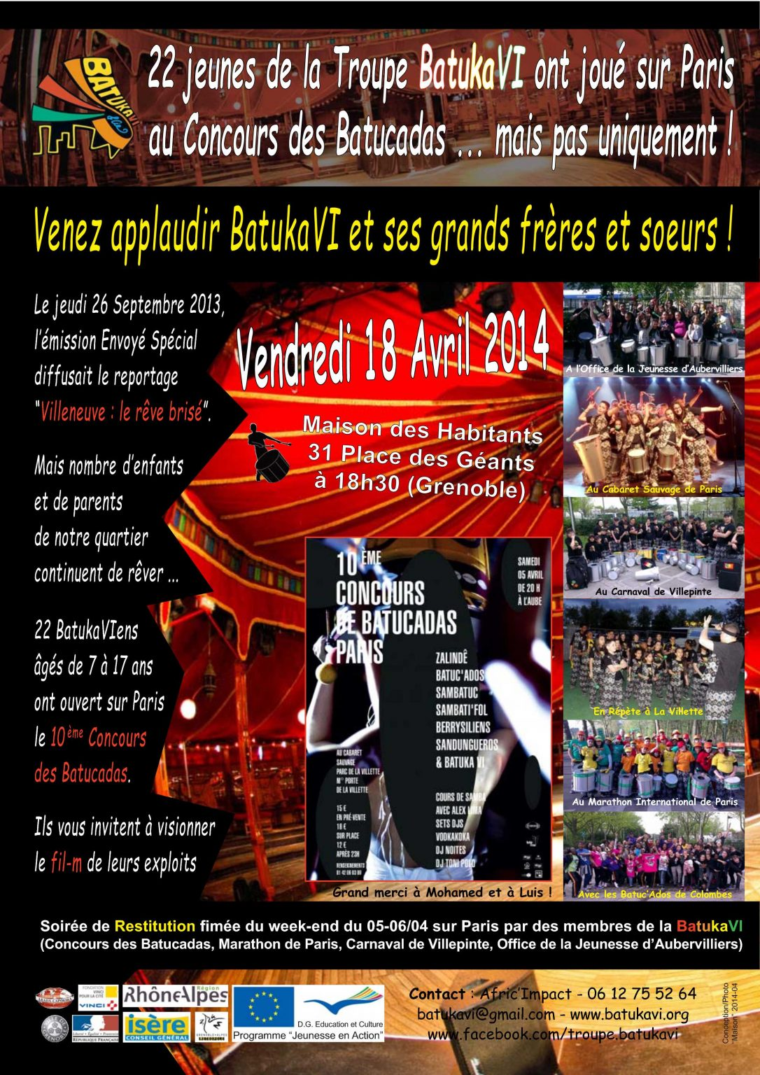 2014-04 Soirée Cabaret Sauvage (Restitution)