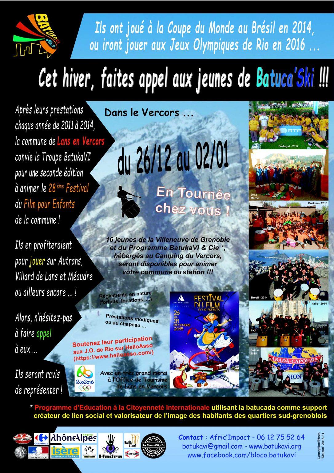 2015-12 Camp-Tournée Batuca'Ski - Vercors (Appel)
