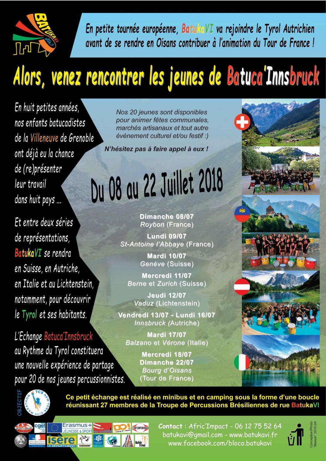2018-07 Echange Batuca'Innsbruck