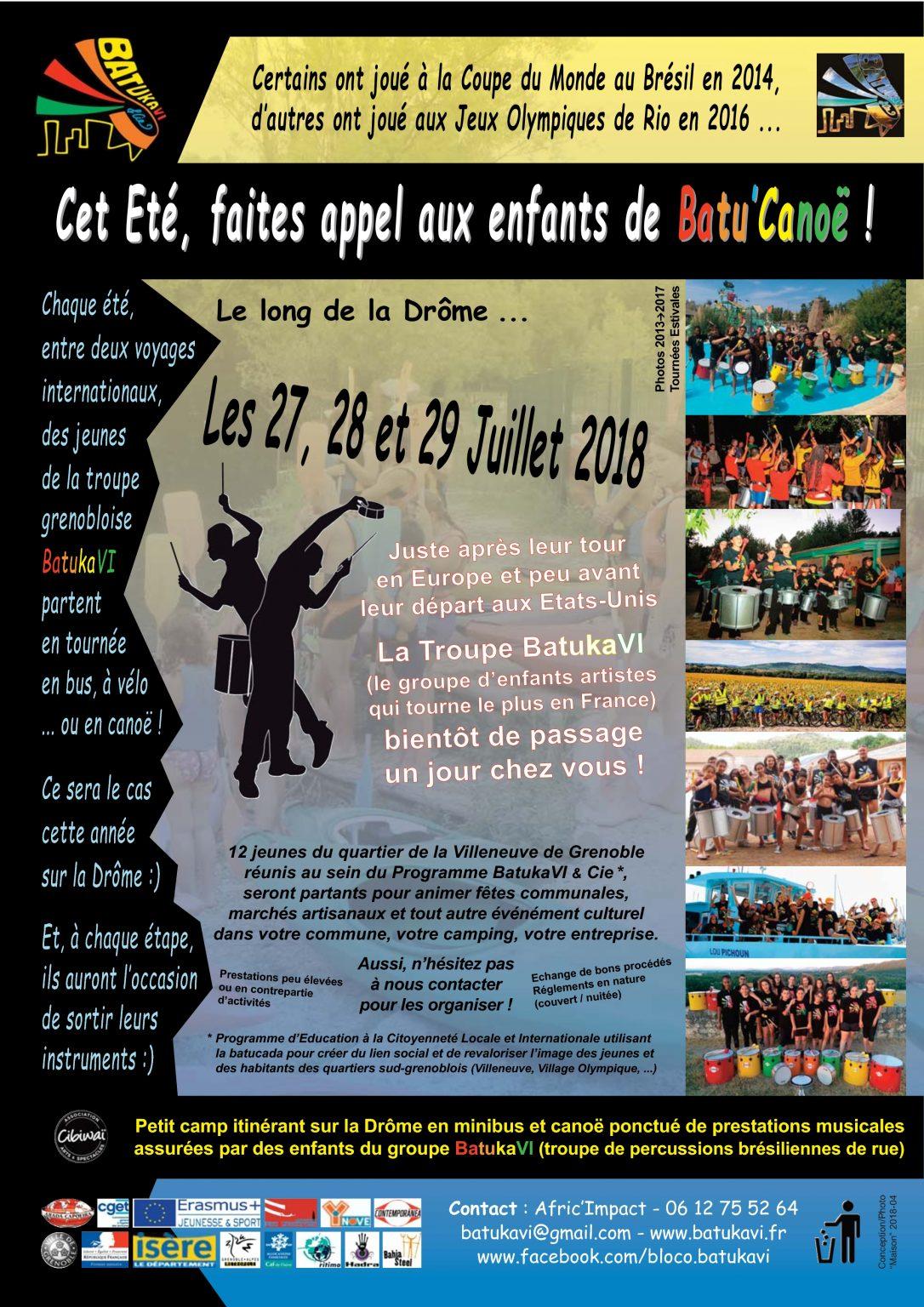 2018-08 Tournée Batu'Canoë I - La Drôme
