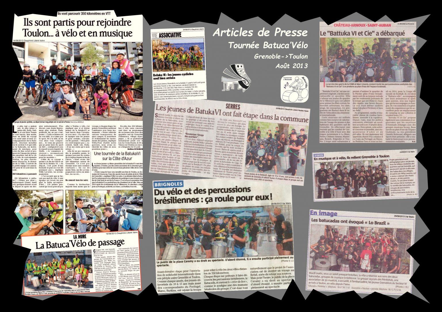 BatukaVI - Panneau Articles 2013-09 Tournée-Mer Batuca'Vélo I (Réduit)