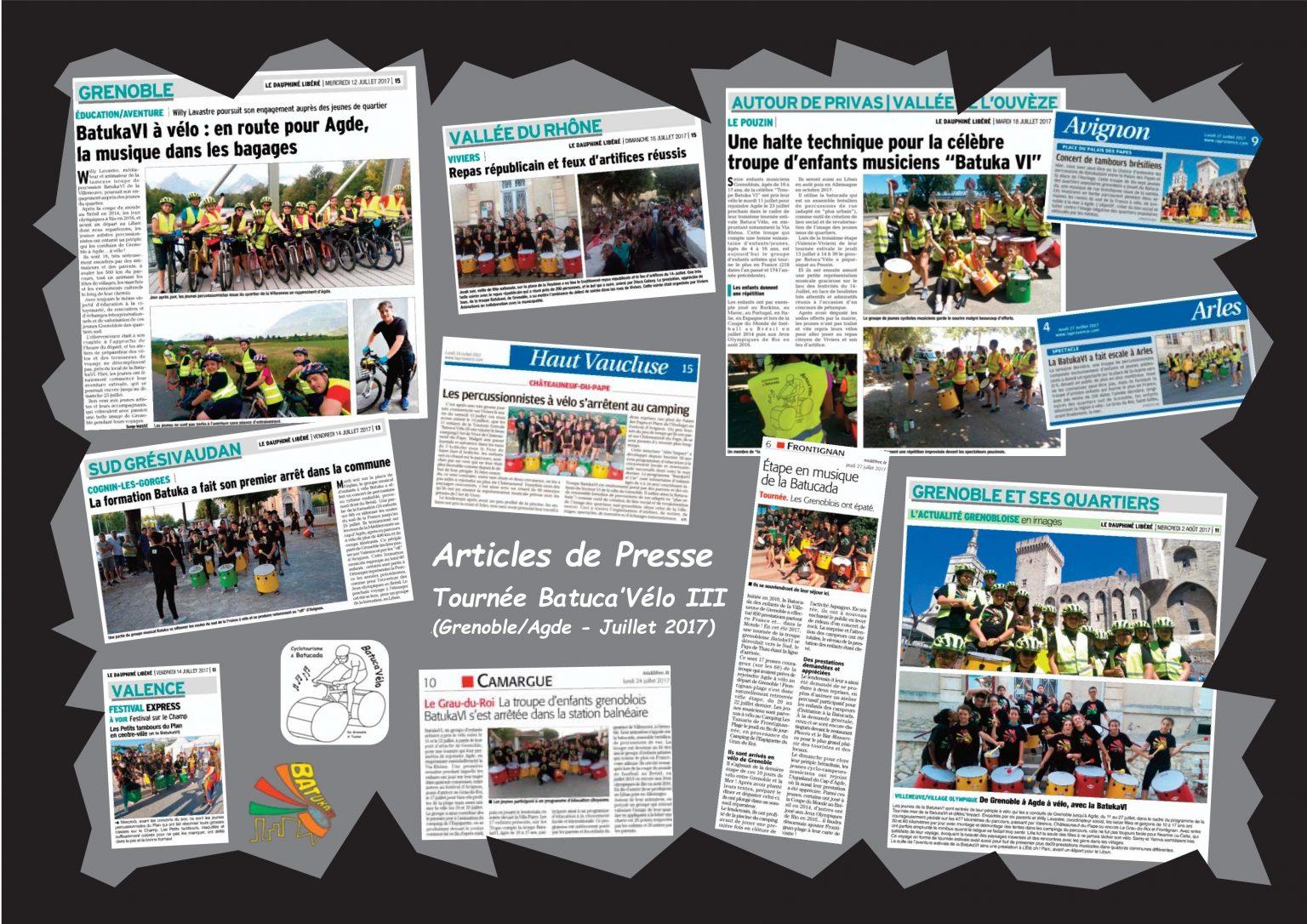 BatukaVI - Panneau Articles 2017-08 Tournée Batuca'Vélo III
