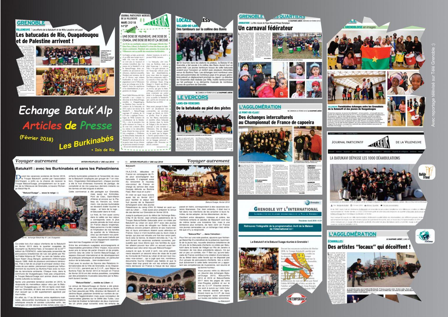BatukaVI - Panneau Articles 2018-02 Echange Batuk'Alp VI - Les Burkinabés