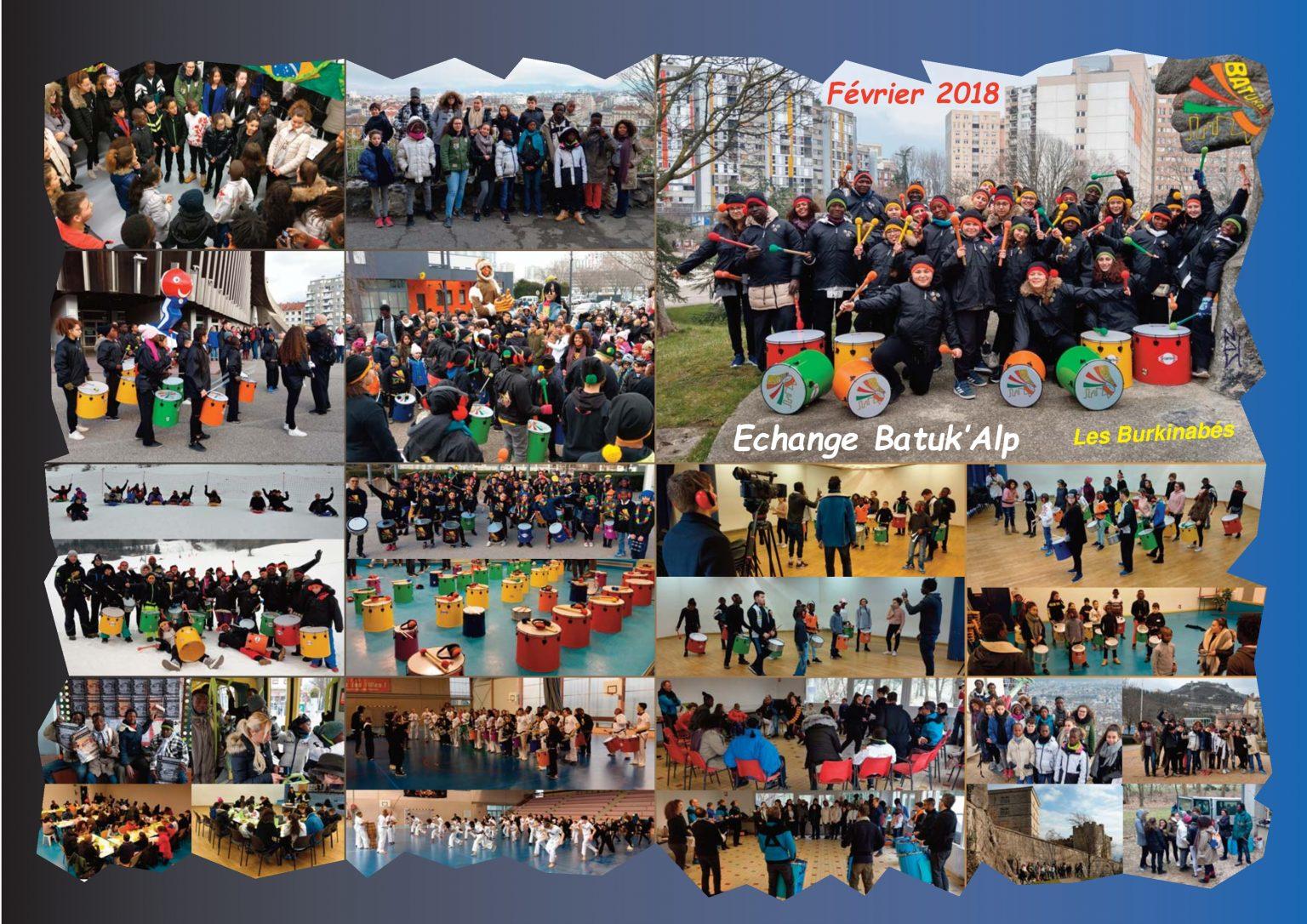 BatukaVI - Panneau Photos 2018-02 Echange Batuk'Alp - Les Burkinabés